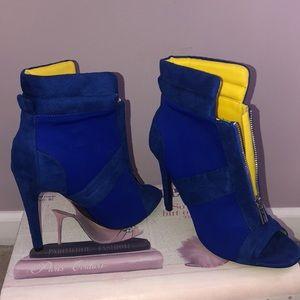 Royal Blue angle boots